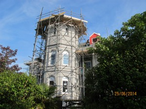 Painting tower for Wherry painting and Decorating